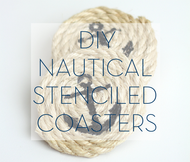 DIY Nautical Stenciled Coasters