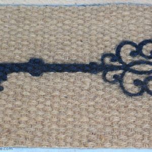 DIY Skeleton Key Door Mat