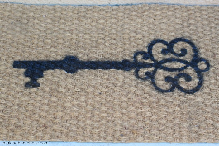 Making Home Base DIY Skeleton Key Door Mat 4