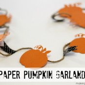 Making Home Base Paper Pumpkin Garland