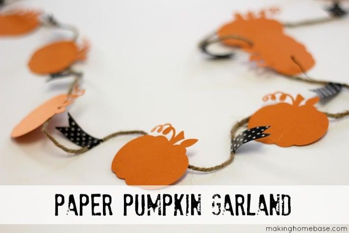 Making Home Base Paper Pumpkin Garland