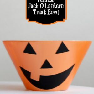 Painted Jack O Lantern Treat Bowl