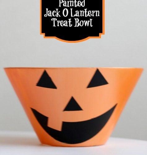 Painted Jack O Lantern Treat Bowl