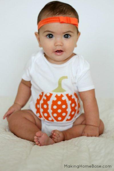 Pumpkin Applique Onesie Tutorial