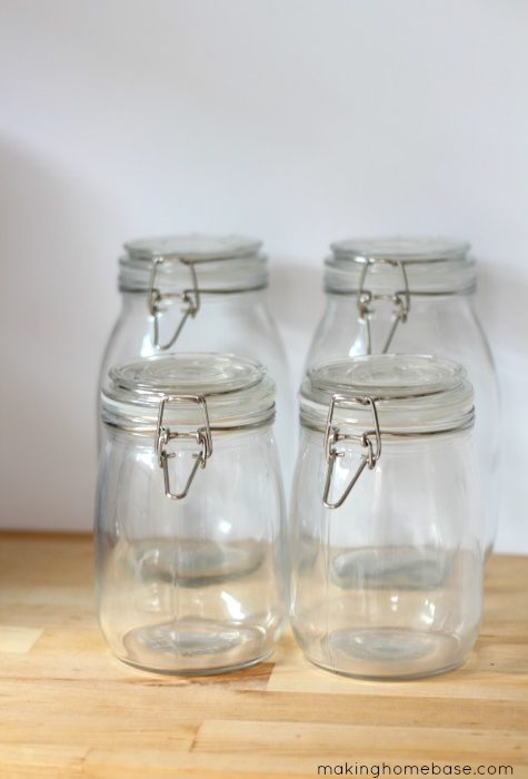 DIY Etched Glass Canister Labels: An Easy to follow DIY Tutorial