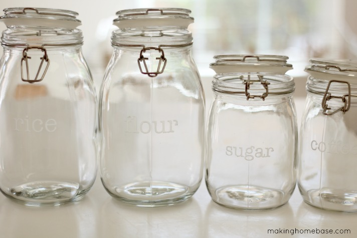 Etched Glass Canister Labels