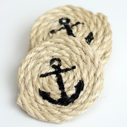 Sisal Rope Coasters – Easy Nautical DIY Tutorial