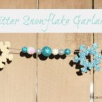Glitter Snowflake Garland