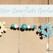 Holiday Craft Glitter Snowflake Garland