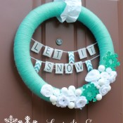 Let It Snow Winter Wreath Making Home Base
