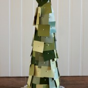 Making Home Base Paint Chips Christmas Tree