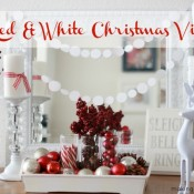 Red and White Christmas Vignette Making Home Base