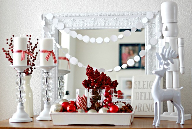 Christmas Mantel Making Home Base