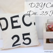 DIY Canvas Dec. 25 Holiday Pillow Making Home Base