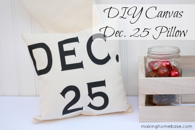 [DIY] Dec. 25 Canvas Pillow