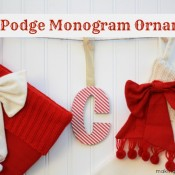 DIY Mod Podge Monogram Ornament Making Home Base