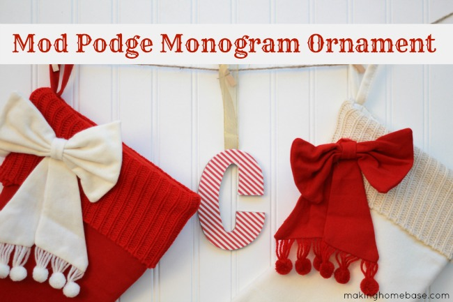 Mod Podge Monogram Ornament