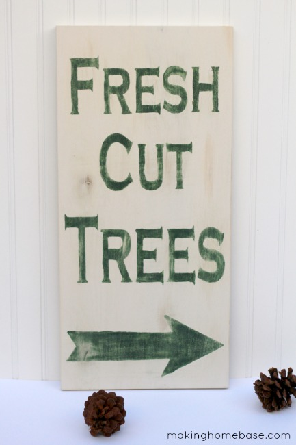 DIY Fresh Cut Trees Sign