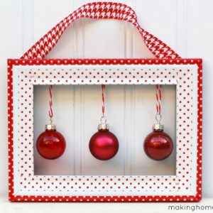 Washi Tape Holiday Wall Hanging