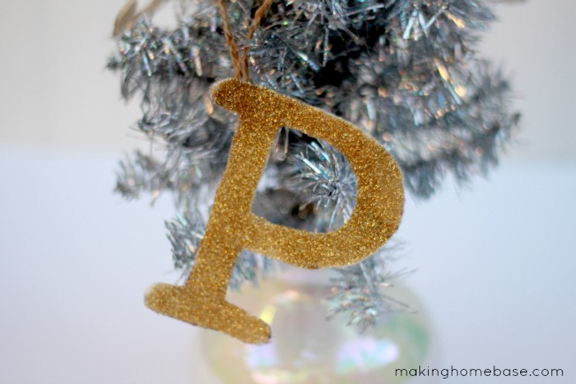 Glitter Monogram Ornaments