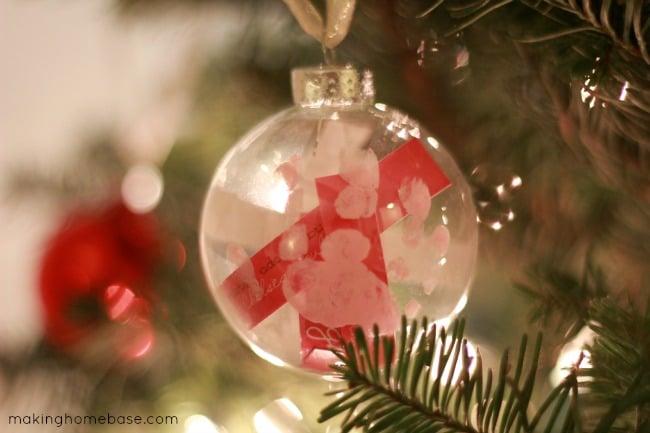 Merry Christmas Making Home Base Ornament