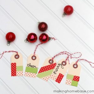 A Holiday Craft: Washi Tape Gift Tags
