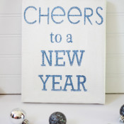cheers new year sign making home base