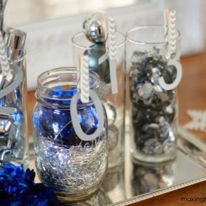 Traditional Blue and Silver New Years Vignette [Christmas Vignette recycle]
