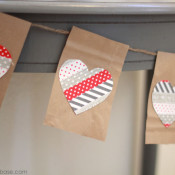 Making Home Base Paper Bag and Washi Tape Bunting
