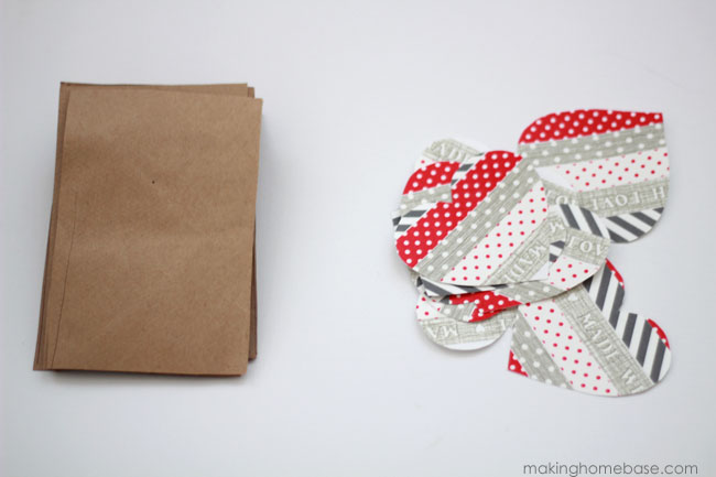 Making Home Base Paper Bag and Washi Tape Bunting Tutorial