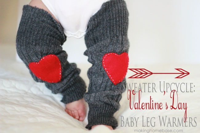 Making Home Base Sweater Upcycle Valentines Day Leg Warmers