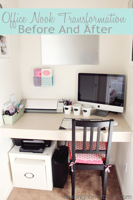 Office Nook Transformation Making Home Base