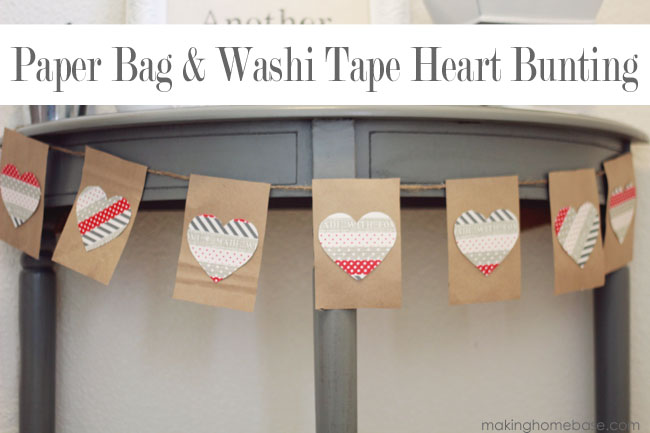 Paper Bag and Washi Tape Heart Bunting