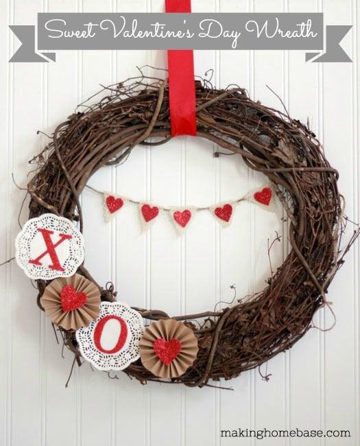 Valentine's Day Decor Valentine's Day Wreath