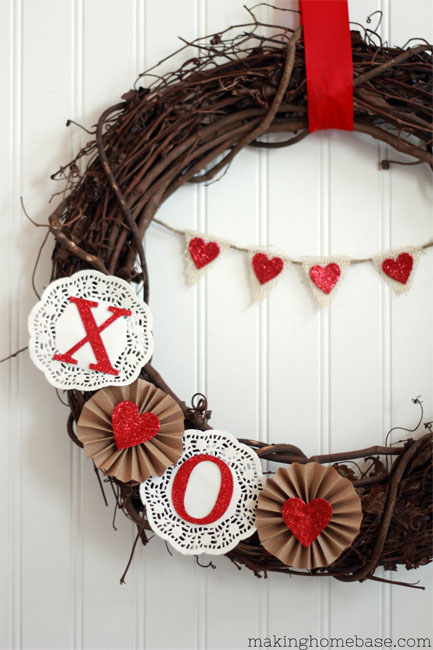 Valentine's Day Decor Simple Valentine's Day Wreath