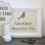 DIY Canvas Entry Table Sign [Tutorial]