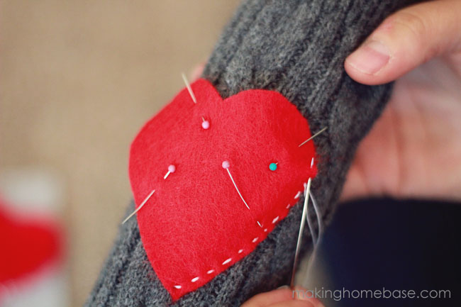 heart patch sweater leg warmers tutorial