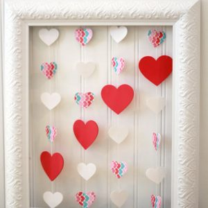 Valentine's Day Floating Heart Wall Art