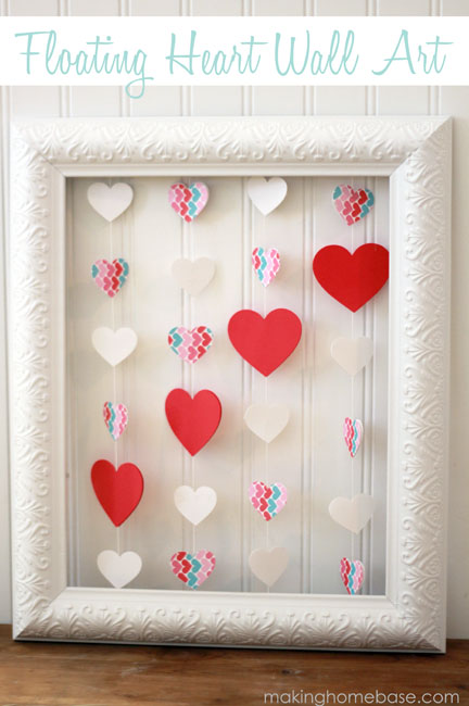 floating heart wall art making