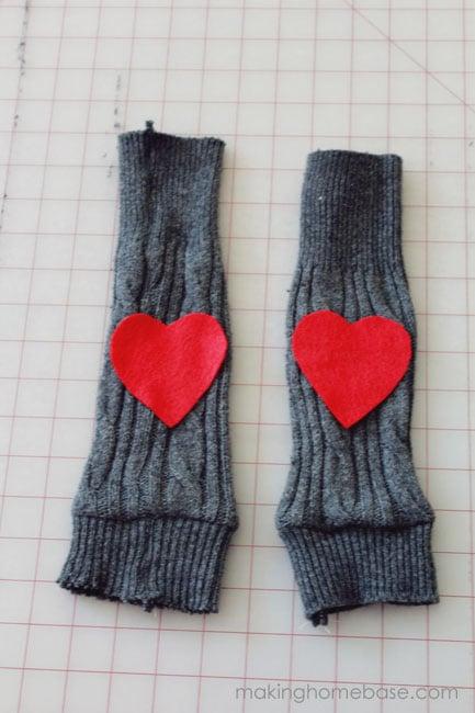 makinghomebase sweater leggings with heart patch