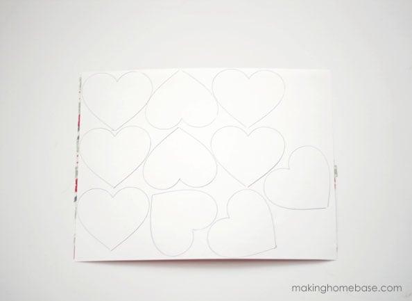 makinghomebase.com Paper Bag and Washi Tape Heart Bunting