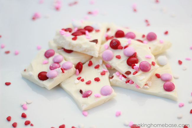 valentine's day candy bark making home base
