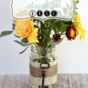 Embellished Mason Jar Vase for Spring