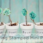 Spring Decor: Stamped Mini Pots