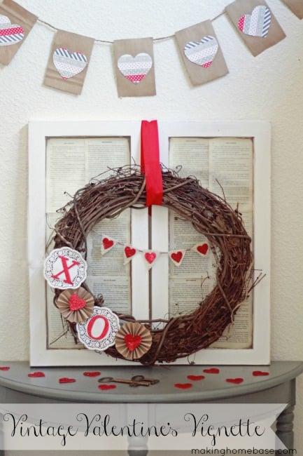 Vintage Valentine's Day Vignette