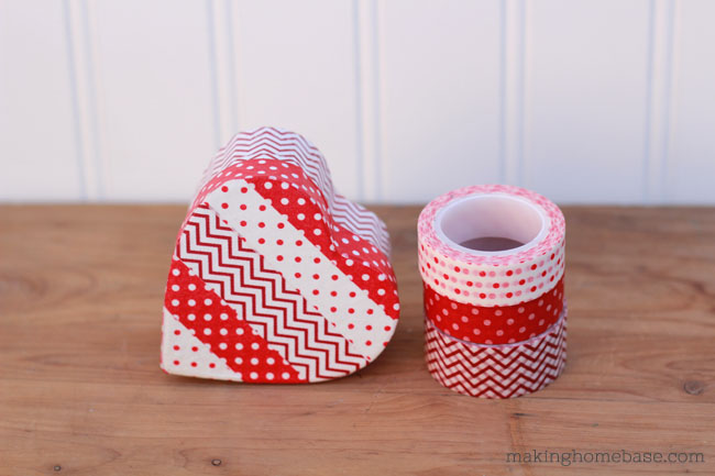 Valentines Day Washi Tape Heart Box