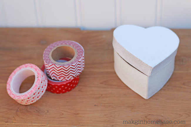 Washi Tape Valentines Boxes Tutorial