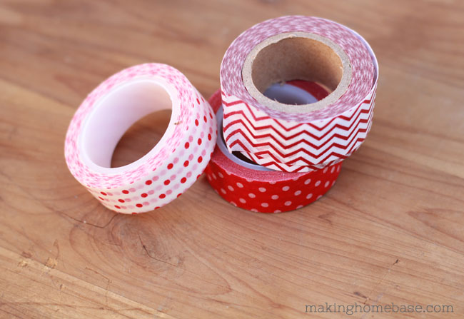 Washi Tape Valentines Boxes