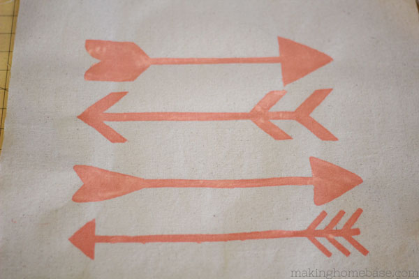 DIY Stenciled Arrow Pillow