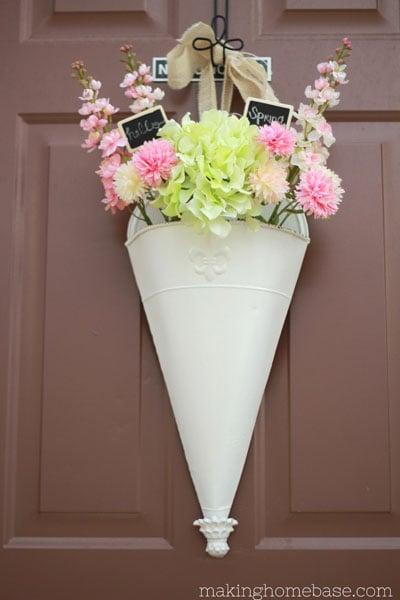 Spring Floral Door Hanging
